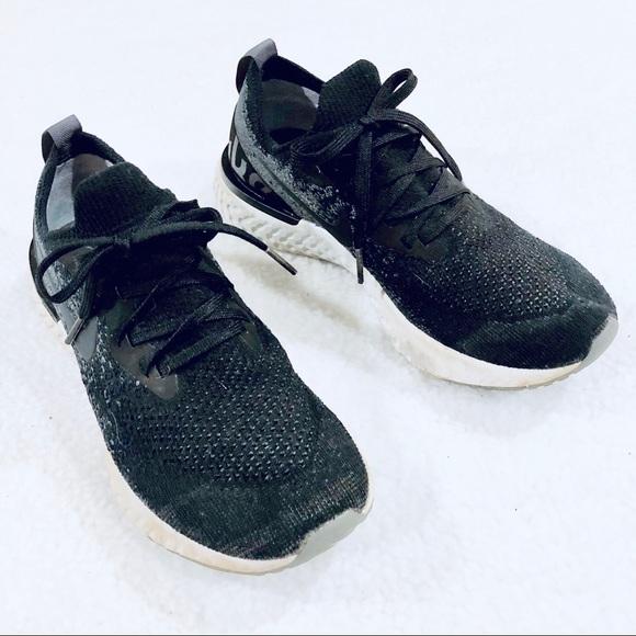Nike Shoes - NIKE Epic React Flyknit Women's Black Sneaker 7.5